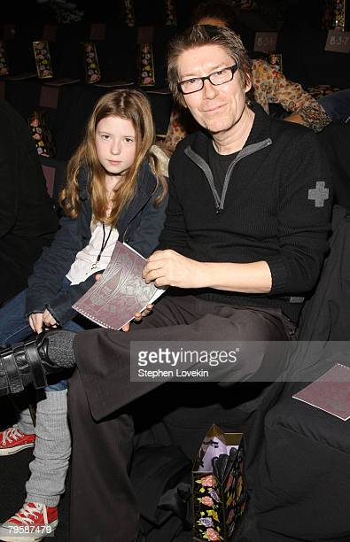 Musician Richard Butler of The Psychedelic Furs and daughter Maggie attend the Anna Sui Fall 2008 fashion show during MercedesBenz Fashion Week Fall...