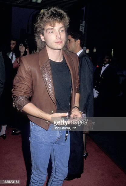 Musician Richard Marx attends the Dirty Dancing New York City Premiere on August 17 1987 at the Gemini 1 2 in New York City
