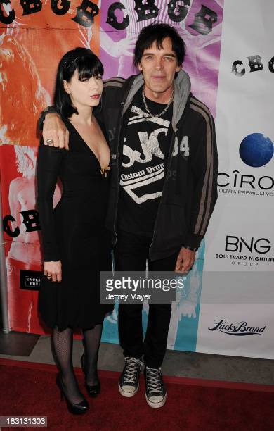 Musician Richie Ramone arrives at the 'CBGB' Special Screening at ArcLight Cinemas on October 1 2013 in Hollywood California