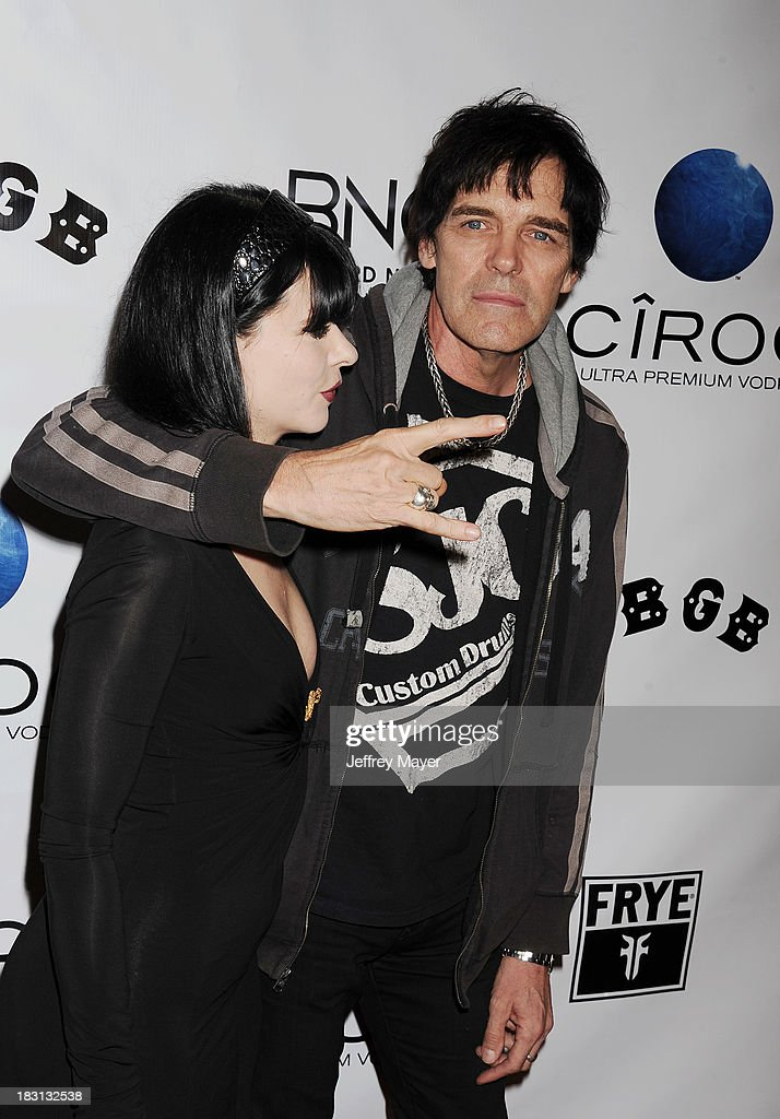 Musician Richie Ramone arrives at the 'CBGB' Special Screening at ArcLight Cinemas on October 1, 2013 in Hollywood, California.