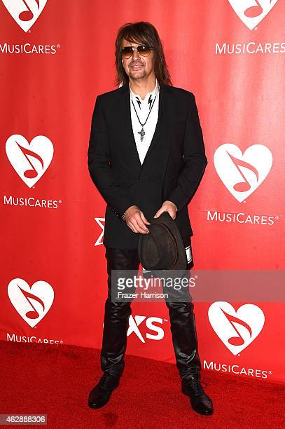 Musician Richie Sambora attends the 25th anniversary MusiCares 2015 Person Of The Year Gala honoring Bob Dylan at the Los Angeles Convention Center...