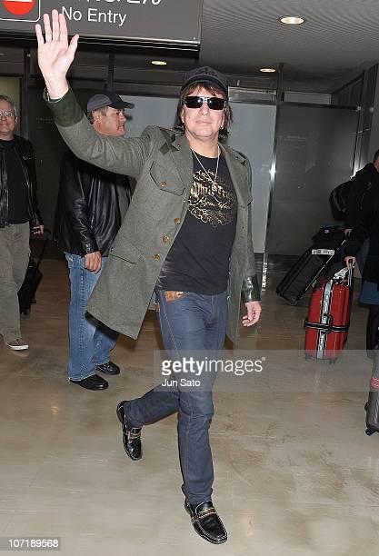 Musician Richie Sambora of Bon Jovi arrives at Narita International Airport on November 29 2010 in Narita Japan