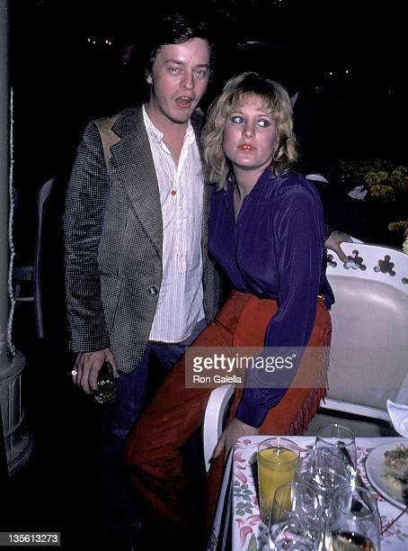 Musician Rick Derringer and Lorna Luft attend the Times Square Premiere Party on October 14 1980 at Tavern on the Green in New York City