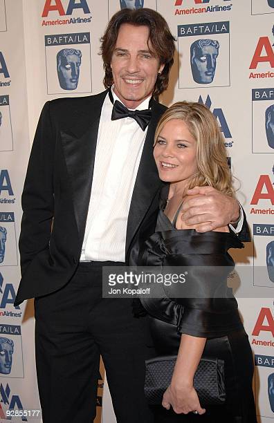 Musician Rick Springfield and wife Barbara Porter arrive at the 18th Annual BAFTA/LA Britannia Awards at Hyatt Regency Century Plaza on November 5...