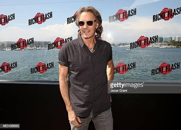 Musician Rick Springfield attends the Rick Springfield Rocks The Boat For Ricki and the Flash event on July 30 2015 in Marina del Rey California