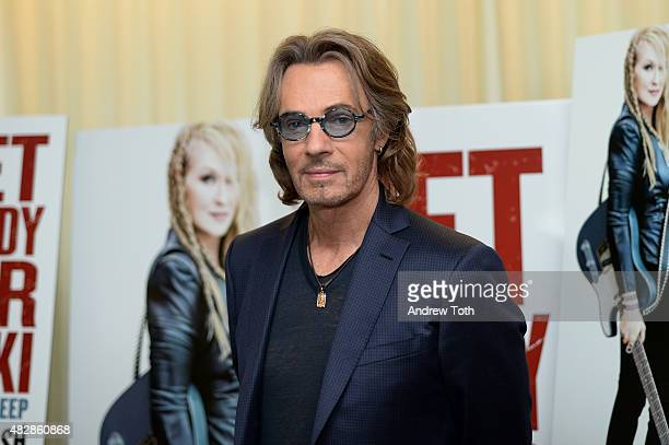 Musician Rick Springfield attends the 'Ricki And The Flash' New York screening with The Mamarazzi at Dolby 88 Theater on August 3 2015 in New York...