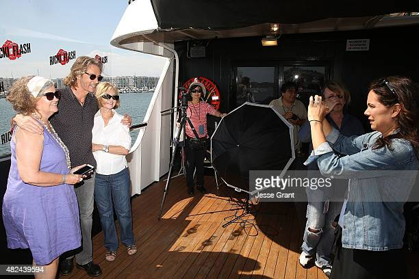Musician Rick Springfield meets with fans during the Rick Springfield Rocks The Boat For Ricki and the Flash event on July 30 2015 in Marina del Rey...
