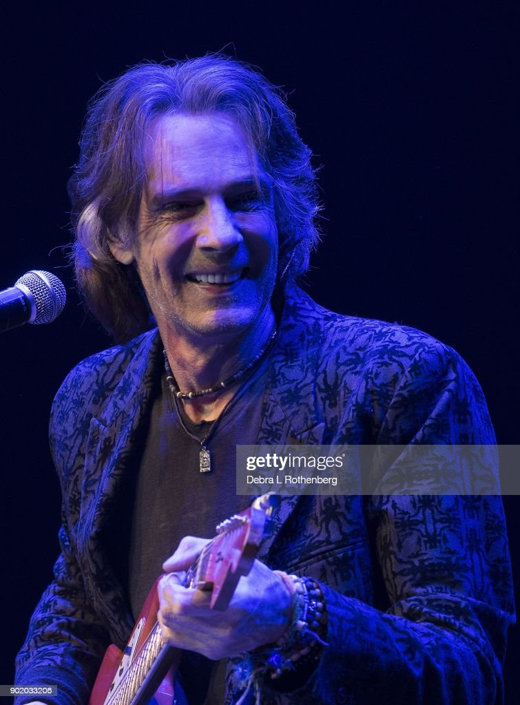 Musician Rick Springfield performs during his 'Stripped Down' concert at Mayo Performing Arts Center on January 6, 2018 in Morristown, New Jersey.