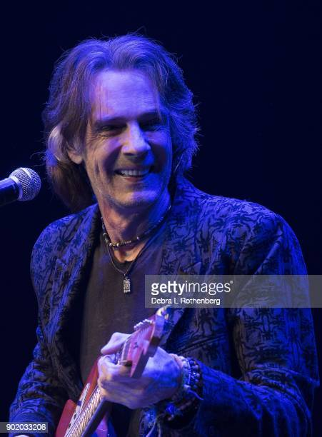 Musician Rick Springfield performs during his 'Stripped Down' concert at Mayo Performing Arts Center on January 6 2018 in Morristown New Jersey