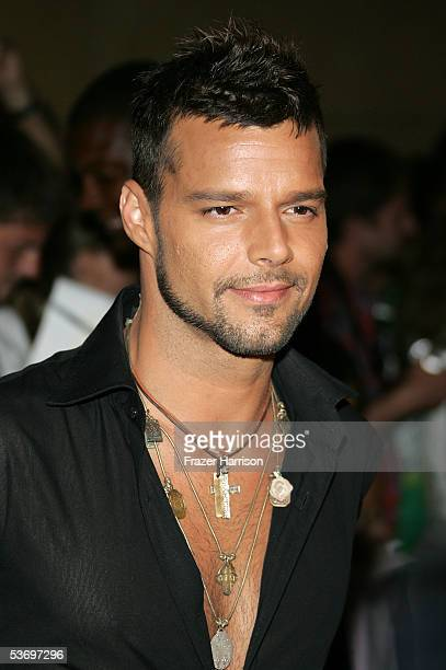 Musician Ricky Martin arrives at the 2005 World Music Awards at the Kodak Theatre on August 31 2005 in Hollywood California