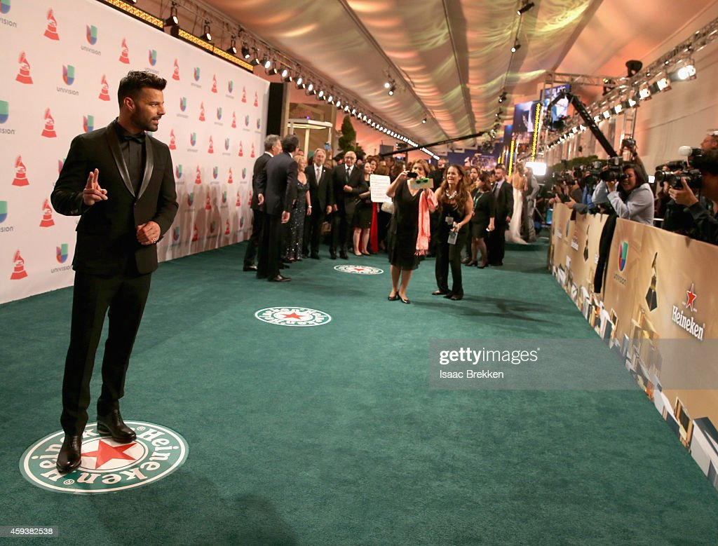 Musician Ricky Martin attends the 15th annual Latin GRAMMY Awards at the MGM Grand Garden Arena on November 20, 2014 in Las Vegas, Nevada.