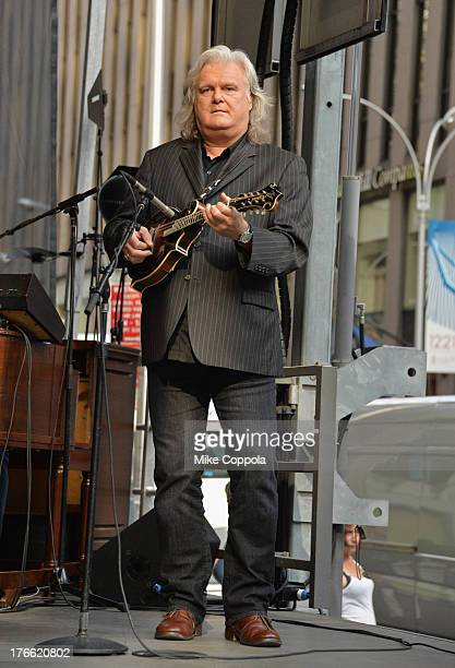 Musician Ricky Skaggs perform with Tower of Power during 'FOX Friends' All American Concert Series outside of FOX Studios on August 16 2013 in New...