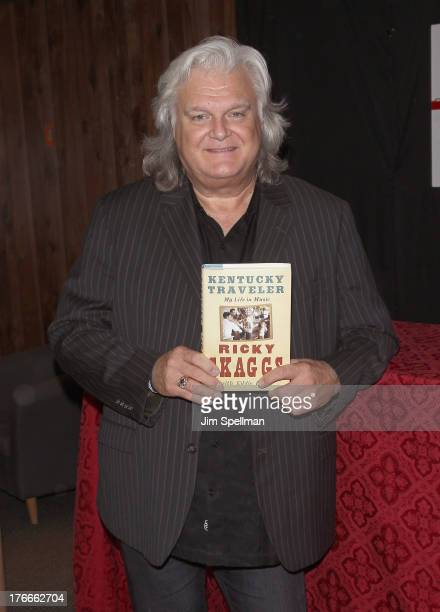 """Musician Ricky Skaggs promotes """"Kentucky Traveler"""" at Bookends on August 16, 2013 in Ridgewood, New Jersey."""