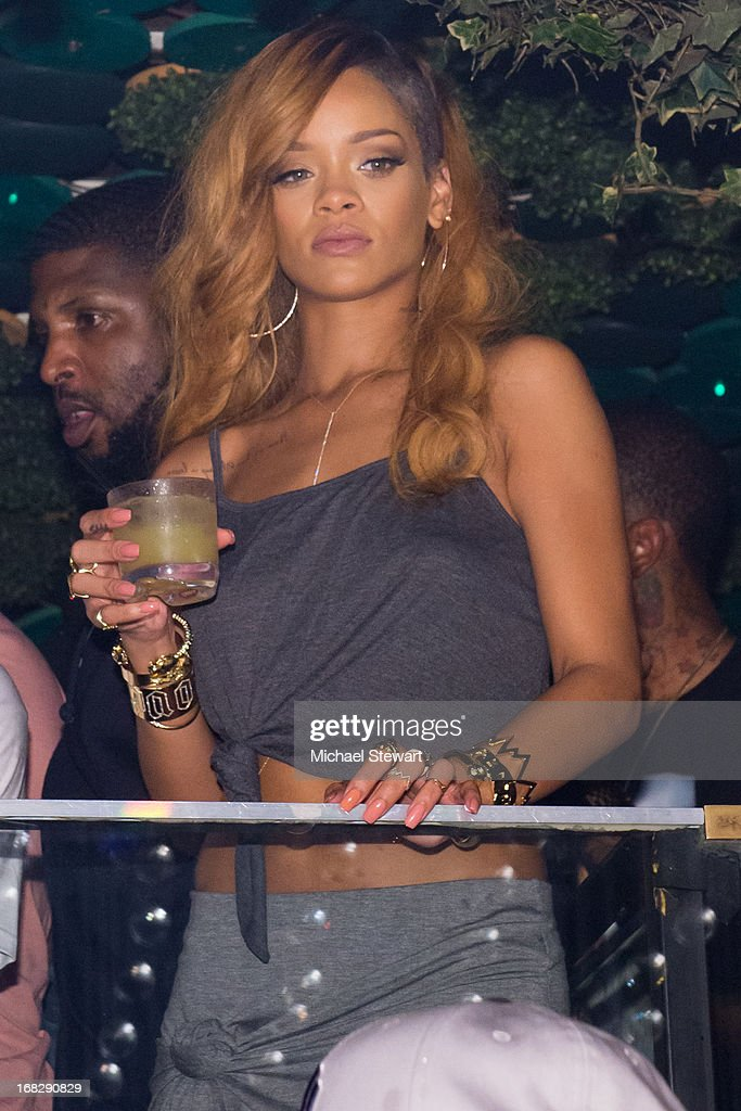 Musician Rihanna attends her after party for the Diamonds World Tour at Greenhouse on May 7, 2013 in New York City.