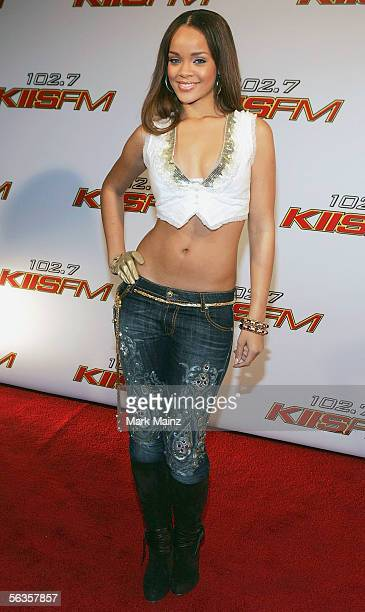 Musician Rihanna attends the '1027 KIISFMs Jingle Ball 2005' at the Shrine Auditorium December 6 2005 in Los Angeles California