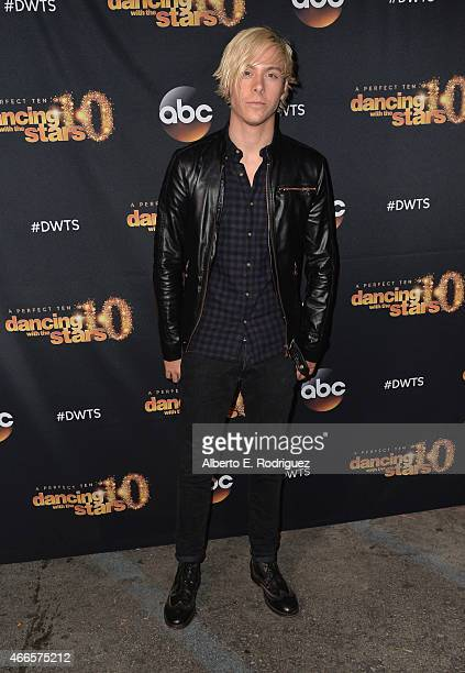 Musician Riker Lynch attends the premiere of ABC's Dancing With The Stars season 20 at HYDE Sunset Kitchen Cocktails on March 16 2015 in West...