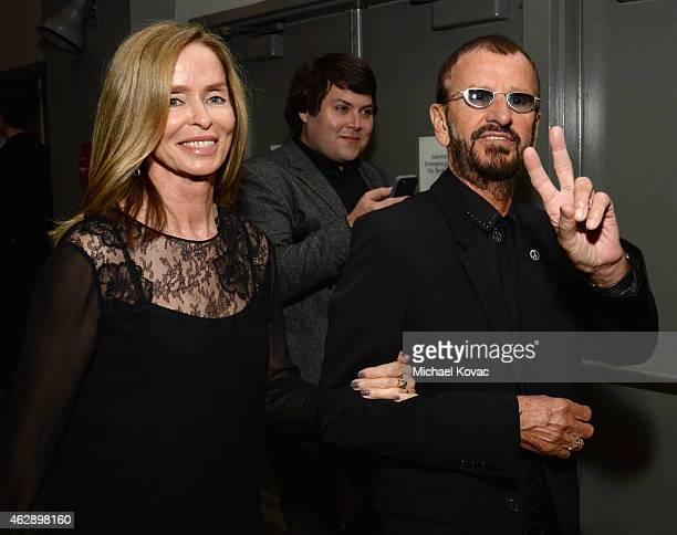 Musician Ringo Starr and Barbara Bach attend the 25th anniversary MusiCares 2015 Person Of The Year Gala honoring Bob Dylan at the Los Angeles...