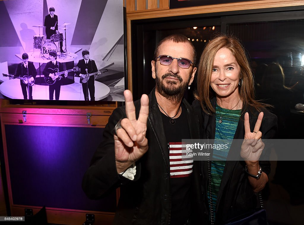 Musician Ringo Starr L And His Wife Barbara Bach Pose At Starrs
