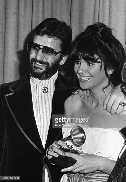 Musician Ringo Starr and singer Linda Ronstadt attend 19th Annual Grammy Awards on February 19 1977 at the Hollywood Palladium in Hollywood California