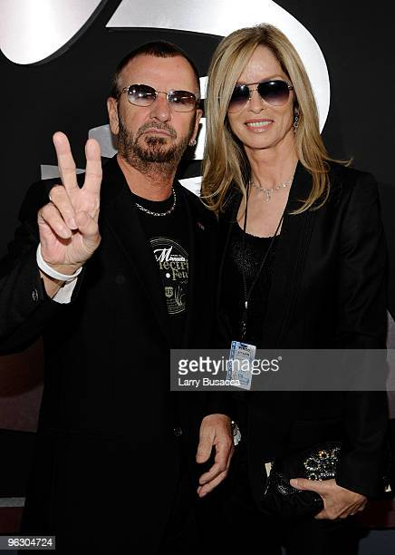 Musician Ringo Starr and wife Barbara Bach arrive at the 52nd Annual GRAMMY Awards held at Staples Center on January 31 2010 in Los Angeles California