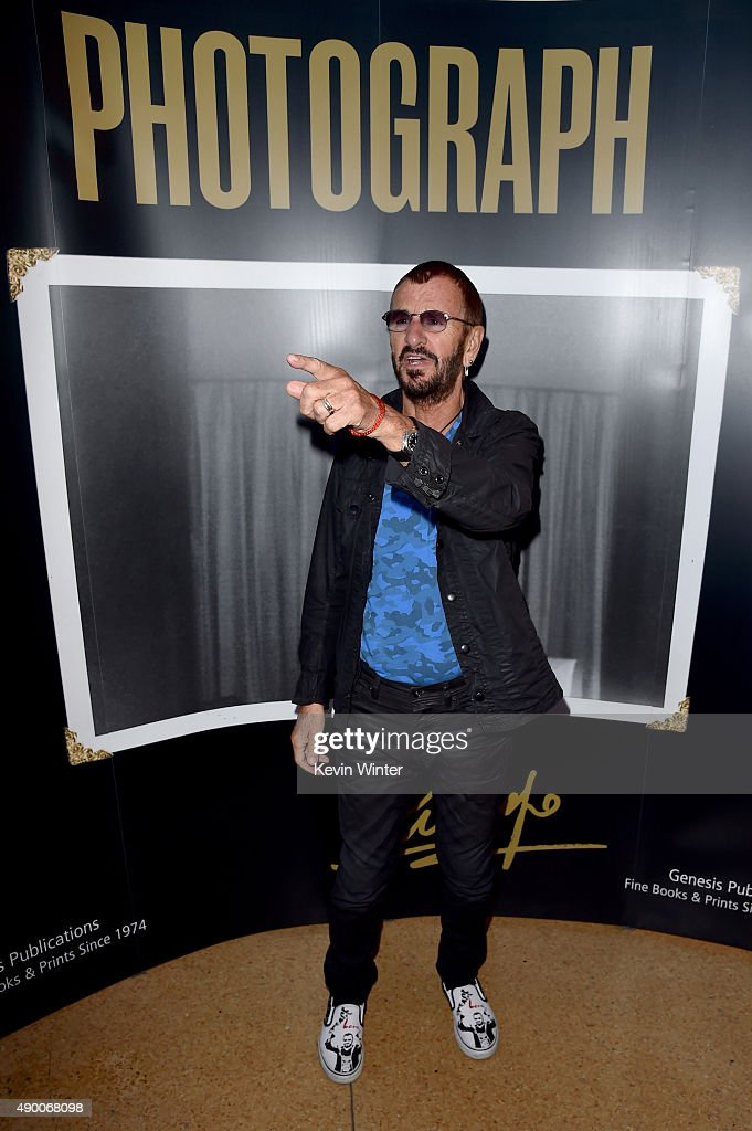 Musician Ringo Starr arrives at 'Ringo Star: In Conversation' to discuss his book PHOTOGRAPH on September 25, 2015 in Los Angeles, California.