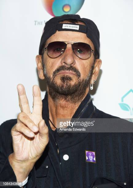Musician Ringo Starr arrives at the Peggy Albrecht Friendly House's 29th Annual Awards Luncheon at The Beverly Hilton Hotel on October 27 2018 in...