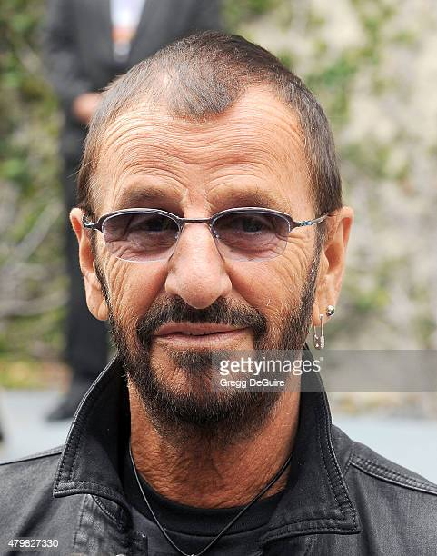 Musician Ringo Starr attends his birthday fan gathering at Capitol Records on July 7 2015 in Hollywood California