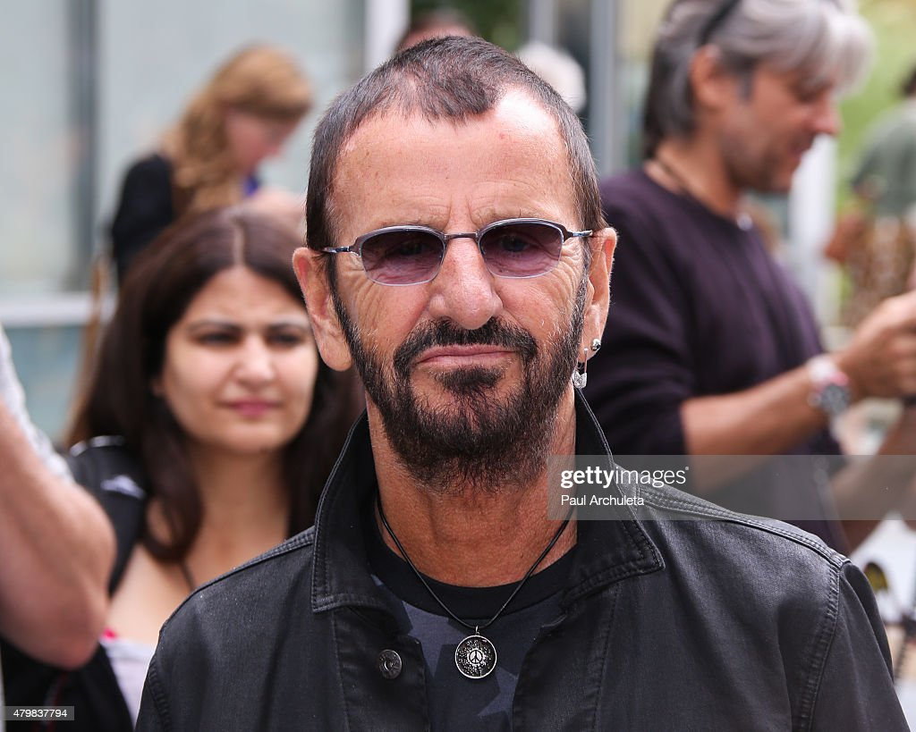 Musician Ringo Starr attends his birthday fan gathering on July 7, 2015 in Hollywood, California.