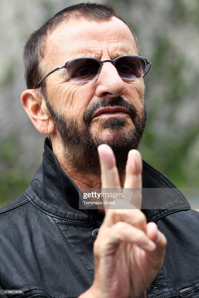 Musician Ringo Starr attends the Ringo Starr's Birthday Fan Gathering on July 7, 2015 in Hollywood, California.