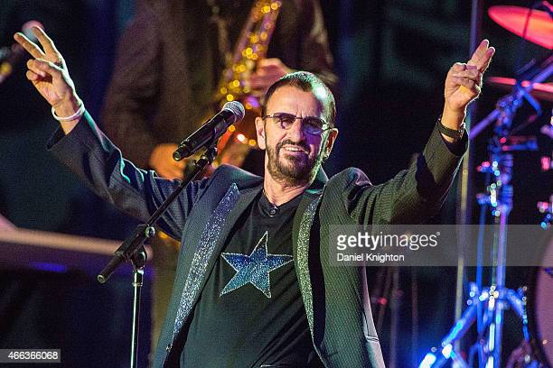 Musician Ringo Starr performs on stage with Ringo Starr His AllStarr Band at Pala Casino on March 14 2015 in Pala California