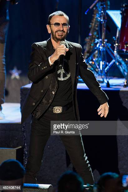 Musician Ringo Starr performs onstage at The Greek Theatre on July 19 2014 in Los Angeles California