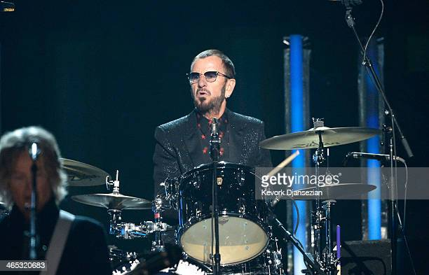 Musician Ringo Starr performs onstage during the 56th GRAMMY Awards at Staples Center on January 26 2014 in Los Angeles California