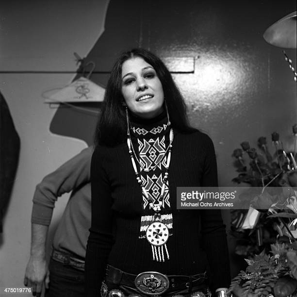 Musician Rita Coolidge poses for a portrait backstage on January 28 1972 in Los Angeles California