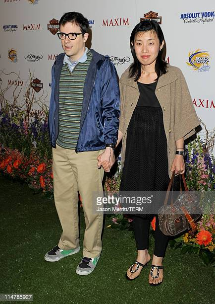 Musician Rivers Cuomo and wife Kyoko Ito arrive at the 11th annual Maxim Hot 100 Party with HarleyDavidson ABSOLUT VODKA Ed Hardy Fragrances and...
