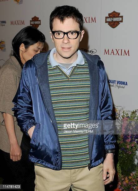 Musician Rivers Cuomo arrives at the 11th annual Maxim Hot 100 Party with HarleyDavidson ABSOLUT VODKA Ed Hardy Fragrances and ROGAINE held at...