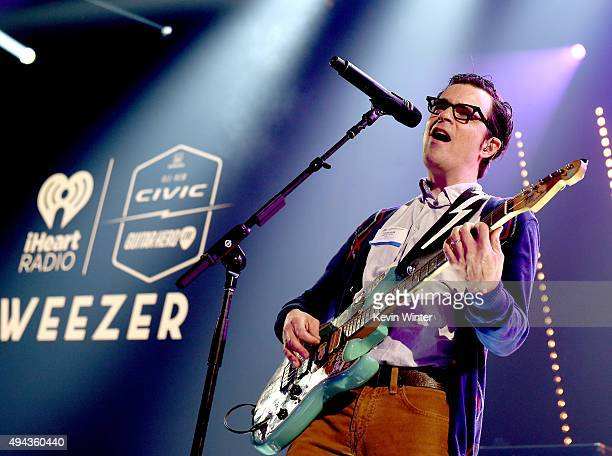 Musician Rivers Cuomo of Weezer performs at iHeartRadio Theater on October 20 2015 in Burbank California