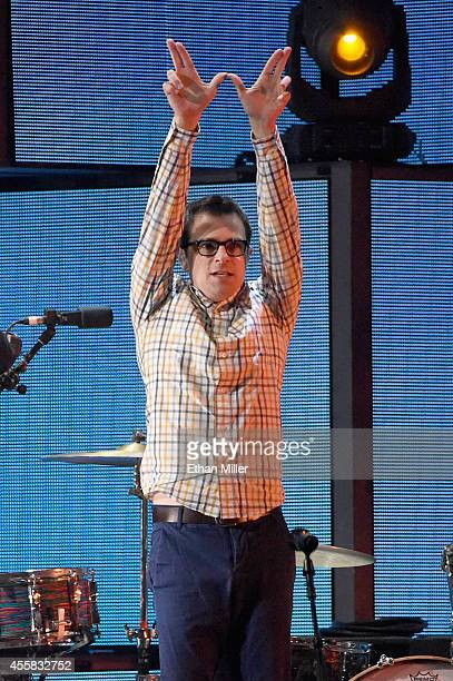 Musician Rivers Cuomo of Weezer performs onstage during the 2014 iHeartRadio Music Festival at the MGM Grand Garden Arena on September 20 2014 in Las...