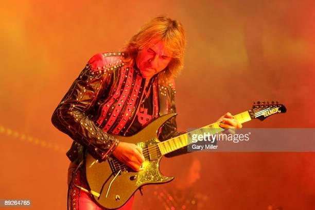 Musician Rob Glenn Tipton of Judas Priest performs in concert at the ATT Center on July 25 2009 in San Antonio Texas