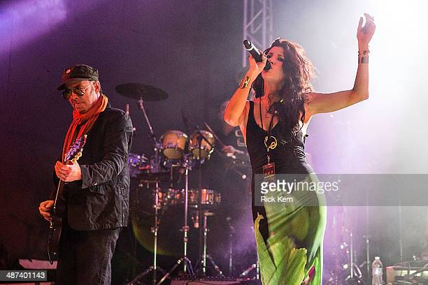 Musician Rob Myers of Thievery Corporation performs in concert at Stubb's BarBQ on April 29 2014 in Austin Texas