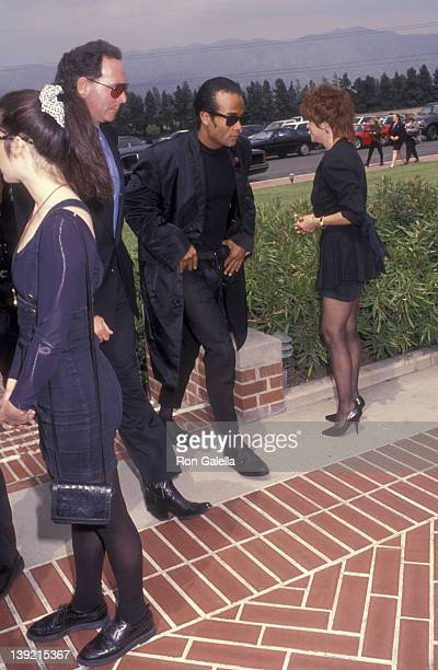 Musician Rob Pilatus attends Sam Kinison Funeral Service on April 15 1992 at Forest Lawn Cemetery in Burbank California