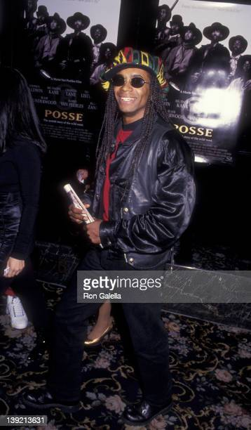 Musician Rob Pilatus of Milli Vanilli attends the premiere of Posse on May 10 1993 at the Criterion Theater in New York City