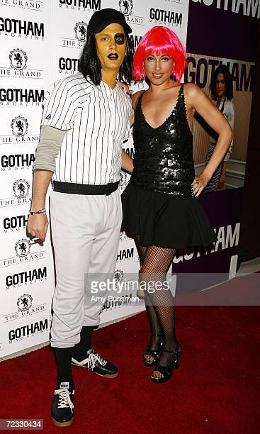 Musician Rob Thomas and his wife Marisol Thomas attend Gotham Magazines Halloween Costume Ball hosted by Rachel Weisz at The Grand October 31 2006 in...