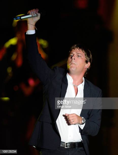 Musician Rob Thomas performs onstage during Andre Agassi Foundation for Education's 15th Grand Slam for Children benefit concert at the Wynn Las...