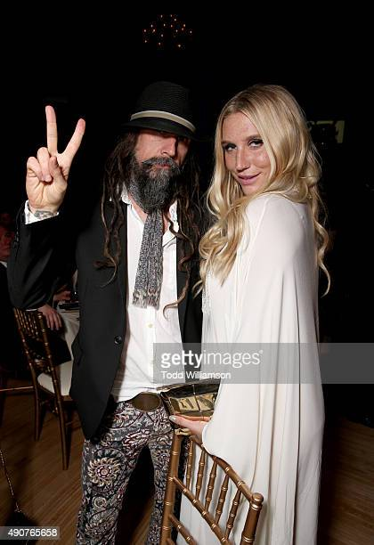 Musician Rob Zombie and singer Kesha attend PETA's 35th Anniversary Party at Hollywood Palladium on September 30 2015 in Los Angeles California