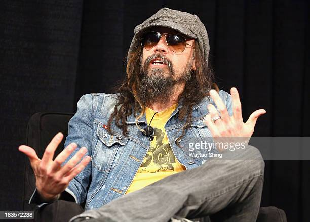 Musician Rob Zombie speaks onstage at A Conversation With Rob Zombie Panel during the 2013 SXSW Music Film Interactive Festival at Austin Convention...