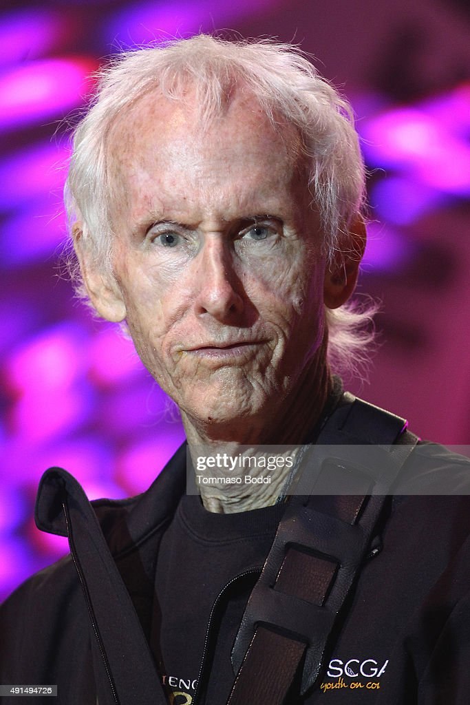 Musician Robby Krieger performs on stage during the Medlock Krieger Celebrity Golf Invitational 2015 - All Star Concert held at Moorpark Country Club on October 5, 2015 in Moorpark, California.