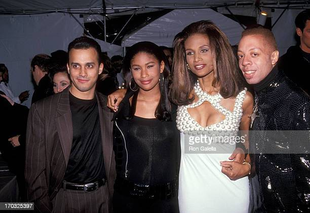 Musician Robert Clivilles of C C Music Factory model Beverly Johnson and daughter Anansa Sims and musician David Cole of C C Music Factory attend the...