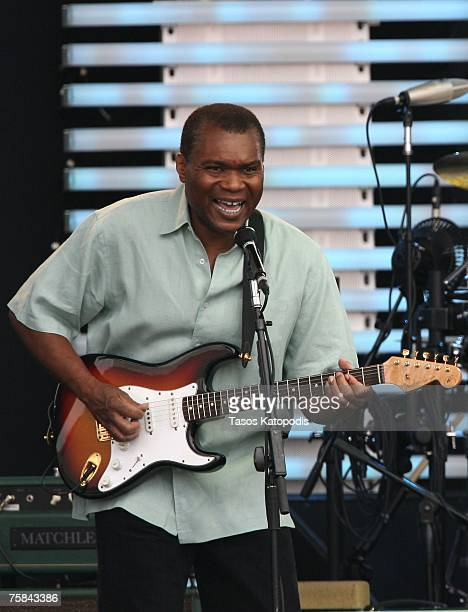 Musician Robert Cray performs during the Crossroads Guitar Festival 2007 held at Toyota Park on July 28 2007 in Bridgeview Illinois