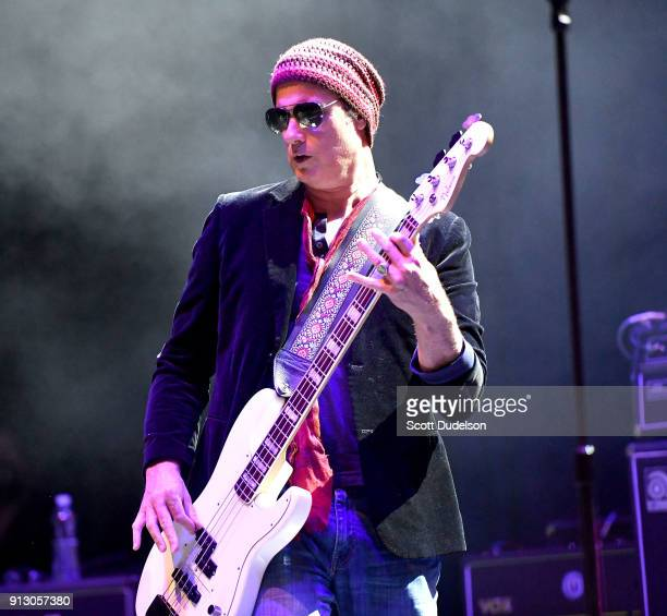 Musician Robert DeLeo of Stone Temple Pilots performs onstage during the Adopt the Arts annual rock gala at Avalon Hollywood on January 31 2018 in...