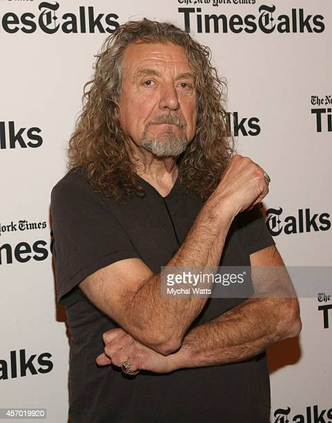 Musician Robert Plant attends TimesTalks Presents An Evening With Robert Plant at Times Center on October 10 2014 in New York City
